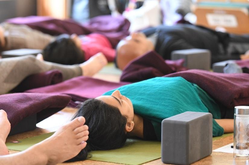 YogaKula Green Gulch Yoga Retreat. Sunday, March 11, 2018. Photos by Chris Polydoroff.